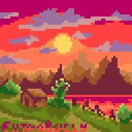 artist:extrabully bob_ross game:mario_artist_paint_studio streamer:joel // 640x640 // 17.7KB