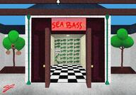 artist:samj game:animal_crossing_new_horizons sea_bass streamer:vinny // 2388x1668 // 2.6MB