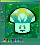Character:Vineshroom artist:CosmicYan ms_paint streamer:vinny // 455x509 // 22.0KB