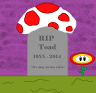 fire_flower game:captain_toad_treasure_tracker ms_paint nintendo quote streamer:vinny toad tombstone // 517x501 // 40.2KB