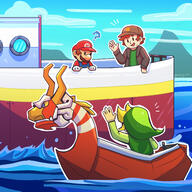 artist:IzzyG boat game:paper_mario_the_origami_king game:wind_waker streamer:vinny // 2500x2500 // 1.8MB