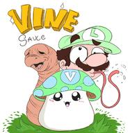 artist:Gortmorzel meat speed_luigi streamer:vinny vineshroom // 1506x1548 // 805.1KB