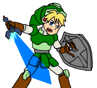 artist:buttbleedbill crossover legend_of_zelda link megaman megaman_legends megaman_legends_2 ms_paint streamer:fred // 1108x1008 // 47.7KB