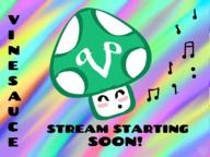 artist:Summertimezz cute getting_better music stream_starting_soon streamer:vinny vineshroom // 1066x800 // 576.3KB