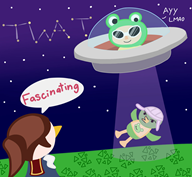 alien ayy_lmao game:animal_crossing medli scoot streamer:vinny vinesauce // 1561x1446 // 208.2KB