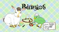 artist:applesauce_machine artist:applesaucemachine basket binyot blood_bagel bunny chick chicken easter egg eggs gingham marker plaid rabbit scoot speed_luigi streamer:vinny tartan vineshroom whiteboard yot // 1633x895 // 657.9KB