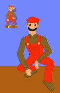 artist:niarize game:super_mario_maker mario streamer:vinny vinesauce // 387x600 // 92.7KB