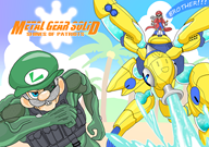 artist:monojojo fludd game:metal_gear_solid_4 game:super_mario_sunshine luigi mario snake streamer:vinny // 1200x848 // 884.2KB
