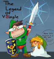 artist:VineLore game:a_link_to_the_past game:zelda_randomized link streamer:vinny tingle // 1500x1632 // 2.7MB
