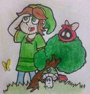 artist:anderym game:legeng_of_zelda game:oracle_of_seasons happy streamer:vinny summer vineshroom // 952x1000 // 801.7KB
