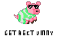 game:monster_hunter_4_ultimate pig poogie rekt streamer:vinny // 70x50 // 867