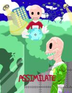 Alien_Invasion alien animated animation artist:sheeplessdreamr assimilate assimilation game:tomodachi_life gif jahn loop mii streamer:vinny vineland_island // 954x1233 // 660.4KB