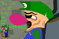 artist:xxbackstreet69boyxx corruptions game:mario_party_2 luigi mario_party streamer:vinny vinesauce // 900x600 // 126.8KB