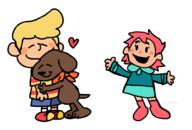 artist:silverope boney game:mother_3 kumatora lucas peanuts streamer:vinny // 1000x676 // 34.6KB