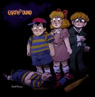 artist:amphibizzy corruptions game:earthbound jeff ness paula streamer:vinny // 1000x1022 // 955.5KB