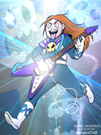 artist:starpoke game:mighty_morphin_power_rangers guitar power_rangers streamer:joel // 850x1127 // 730.0KB