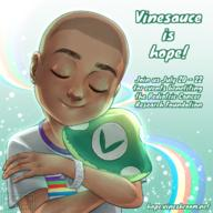 Vinesauce_is_Hope_2018 artist:cryptidkitten streamer:vinny // 1200x1200 // 1.9MB
