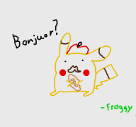 artist:froggy_2 french_pikachu game:pokedraw pikachu pokemon streamer:joel // 821x768 // 104.3KB