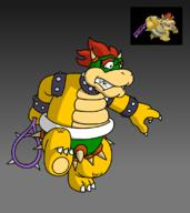 artist:DaddySheevy98 bowser corruptions game:mario_power_tennis streamer:vinny // 1000x1123 // 232.2KB