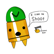 artist:toamac bullet game:enter_the_gungeon streamer:vinny // 500x500 // 65.6KB