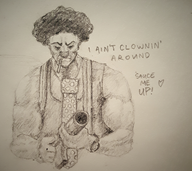 artist:galacticbutt clown streamer:vinny traditional // 1977x1764 // 2.4MB