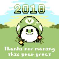 artist:SUS new_year pixel_art streamer:vinny vineshroom // 960x960 // 10.6KB