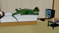3d artist:dog_shaped_robot_buddy game:chrono_cross raptor streamer:vinny vineraptor // 1920x1080 // 1.2MB