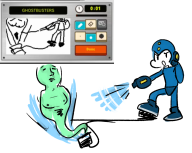 artist:mythi cap game_and_wario ghost ghostbusters megaman miiverse_sketch streamer:vinny // 1076x862 // 347.1KB