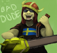 artist:upchuckle chainsaw game:bad_dudes streamer:joel // 700x662 // 393.3KB