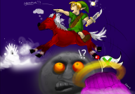 epona game:majora's_mask link moon streamer:vinny // 1300x903 // 861.5KB