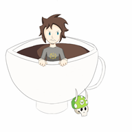 artist:ascendantmanes chibi coffee morning streamer:joel // 1440x1440 // 316.3KB