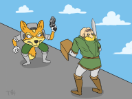 artist:thecake64 corruptions fox game:super_smash_bros link smash_bros streamer:vinny // 2000x1500 // 367.6KB