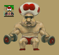 artist:owlsowlsowls corruptions game:super_mario_kart swole toad // 800x753 // 196.7KB