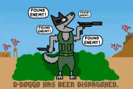 artist:go-go-galajo d-dog doggo game:metal_gear_solid_v:_the_phantom_pain game:undertale streamer:joel undertale_spoilers // 800x540 // 226.6KB