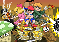 artist:monojojo game:earthbound jeff ness paula poo spin_rabbi streamer:vinny // 1200x853 // 1.3MB