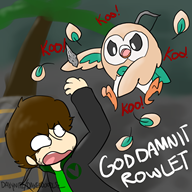 artist:daxerdoodle game:the_culling rowlet streamer:vinny // 800x800 // 342.0KB