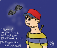 artist:mommamindfang game:earthbound ness streamer:vinny // 700x600 // 497.3KB