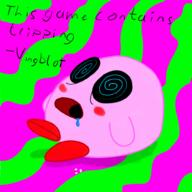 artist:Tharnator game:super_smash_bros_brawl kirby pink_ball_of_fluff_and_succ streamer:vinny tripping_balls // 1000x1000 // 199.2KB
