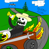 artist:reckless_james game:lego_racers lego skeleton streamer:joel // 1200x1200 // 395.9KB