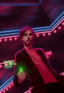 artist:UmbraObscurum neon red_vox reno streamer:vinny // 1550x2250 // 1.7MB