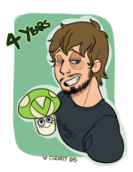 4th_anniversary artist:clickety streamer:vinny vinesauce_logo vineshroom // 656x841 // 225.4KB