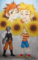 artist:Breee claus game:mother_3 lucas streamer:vinny sunflowers // 987x1525 // 572.8KB