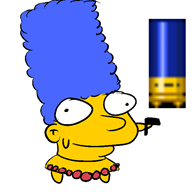 artist:chinigan game:enter_the_gungeon marge_simpson streamer:vinny the_simpsons // 600x600 // 22.9KB