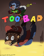 artist:Azai ass clown death game:super_mario_sunshine lava mario streamer:vinny trumpet vinesauce // 1000x1280 // 298.6KB