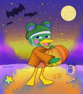 Halloween artist:mad0gany game:animal_crossing_new_horizons moon pumpkin scoot streamer:vinny // 2013x2264 // 2.1MB
