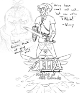 artist:atleast6char game:legend_of_zelda ganondorf link malo streamer:vinny vineshroom // 580x651 // 197.0KB