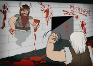 artist:reckless_james blood dwarf game:dwarf_fortress ghost streamer:joel // 1500x1075 // 3.0MB