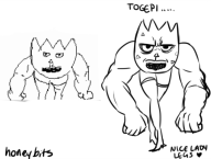 artist:honeybits cap game:game_&_wario miiverse_sketch muscles pokemon streamer:vinny togepi // 689x521 // 131.7KB