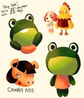 artist:elikapika bunji cookie egbert game:animal_crossing streamer:vinny // 1349x1564 // 864.0KB