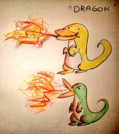 artist:seijo_kijin atari dragon duck ducks streamer:joel // 500x561 // 76.9KB